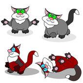 Fyra katter — Stockvektor