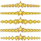 Gold Teiler mit Stern — Stockvektor