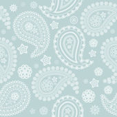 Seamless pale paisley texture — Stock Vector
