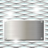Ribbed glass with metal plate — Stock Vector