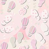 Naadloze textuur met voetafdrukken — Stockvector