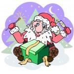 Tipsy Santa Claus — Stock Vector