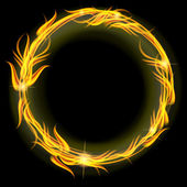 Circle of fire — Stock Vector