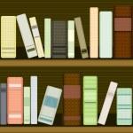 Seamless bookshelf — Stock Vector