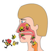 Respiratory infections — Stock Vector