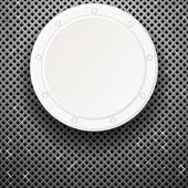 Plaque blanche sur grille — Vecteur