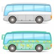 Two buses - Stock Vector