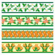 Seamless floral borders — Vector de stock  #30333049