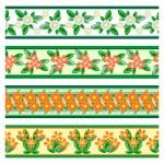 Naadloze floral grenzen — Stockvector