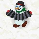 Merry snowman — Stock Vector