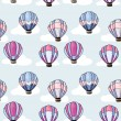 Seamless pattern with hot air balloons — Stok Vektör