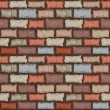 Seamless brick wall — Stock Vector
