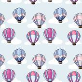 бесшовный паттерн с воздушных шаров — Cтоковый вектор