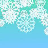 Fond avec des flocons de neige — Vecteur
