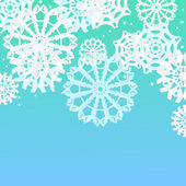 Fondo con copos de nieve — Vector de stock