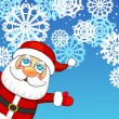 Christmas background with Santa Claus  — Imagens vectoriais em stock