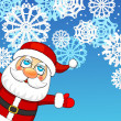 Christmas background with Santa Claus  — Stock vektor