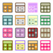 Flat icons of calculators — Stock Vector