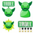 Stock Vector: Signs for troll