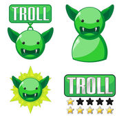 Signs for troll — Stock Vector
