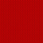 Red seamless knitted texture — Vetor de Stock