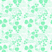 Green seamless pattern with shamrock — Stock Vector