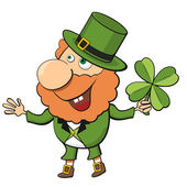 Cartoon leprechaun — Stock Vector