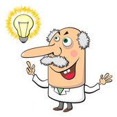 带灯的疯狂科学家 — 图库矢量图片