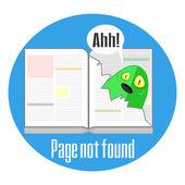 Concept de l'erreur 404 avec page déchirée — Wektor stockowy