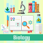 Biology — Vector de stock