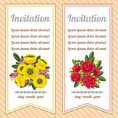 Two floral banners — Stock Vector