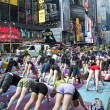 Times Square Yoga — Stock Photo