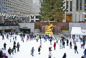 Rockefeller Center Rink — Stock Photo