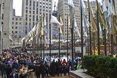 Big Crowd Rockefeller Center — Stockfoto