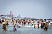 Beach Crowd Jersey Shore — Stock Photo