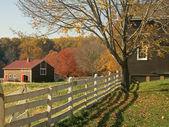 Fall Farm Fence — Stock Photo