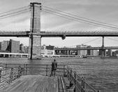 Brooklyn Bridge B&W — Stock Photo