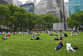 THe Lawn Bryant Park — Stock Photo