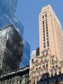 Modré mrakodrapy — Stock fotografie