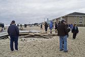 песчаный belmar на пляже — Стоковое фото