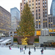 Stock Photo: Rockefeller Center Tree and Rink