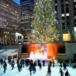 Stock Photo: Rockefeller Center Tree at Night 2012