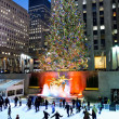 Stock Photo: Ice Skating Rockefeller Center 2012