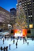 Night Skating Rockefeller Center 2012 — Stock Photo
