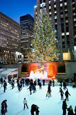 Rockefeller Center Tree at Night 2012 — Stock Photo