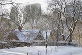建物と雪 — ストック写真