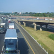 Tractor Trailers NJ Turnpike — Stock Photo