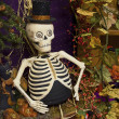 Top Hat Skeleton — Stock Photo