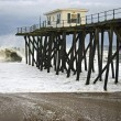 Stock Photo: Stormy Pier