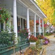 Stock Photo: Autumn Porch